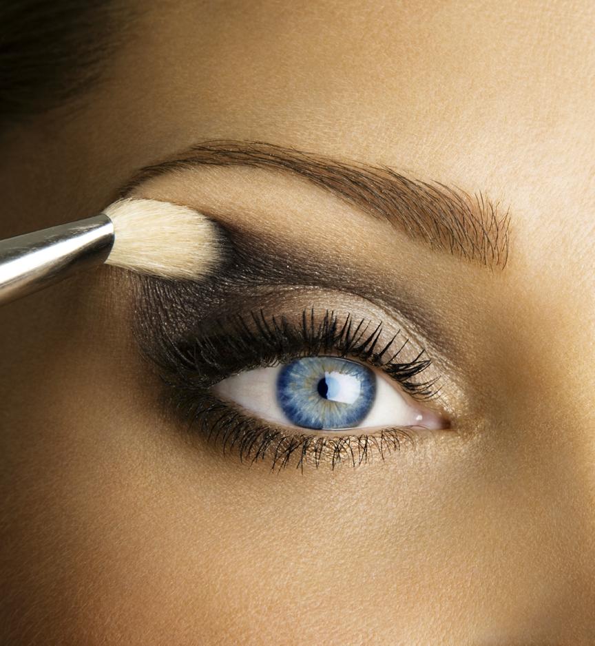 Макияж на вечер в домашних условиях голубые глаза
